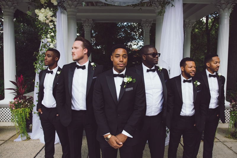 a la carte prints, groomsmen standing together
