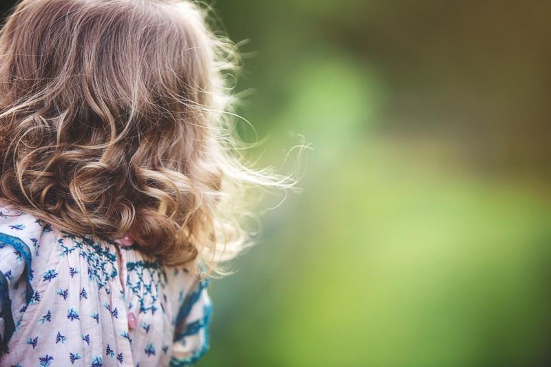 Family Photographer, little girl's hair