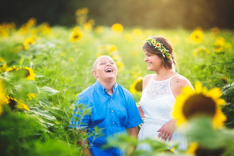 Family Photographer, girl and boy laughing together