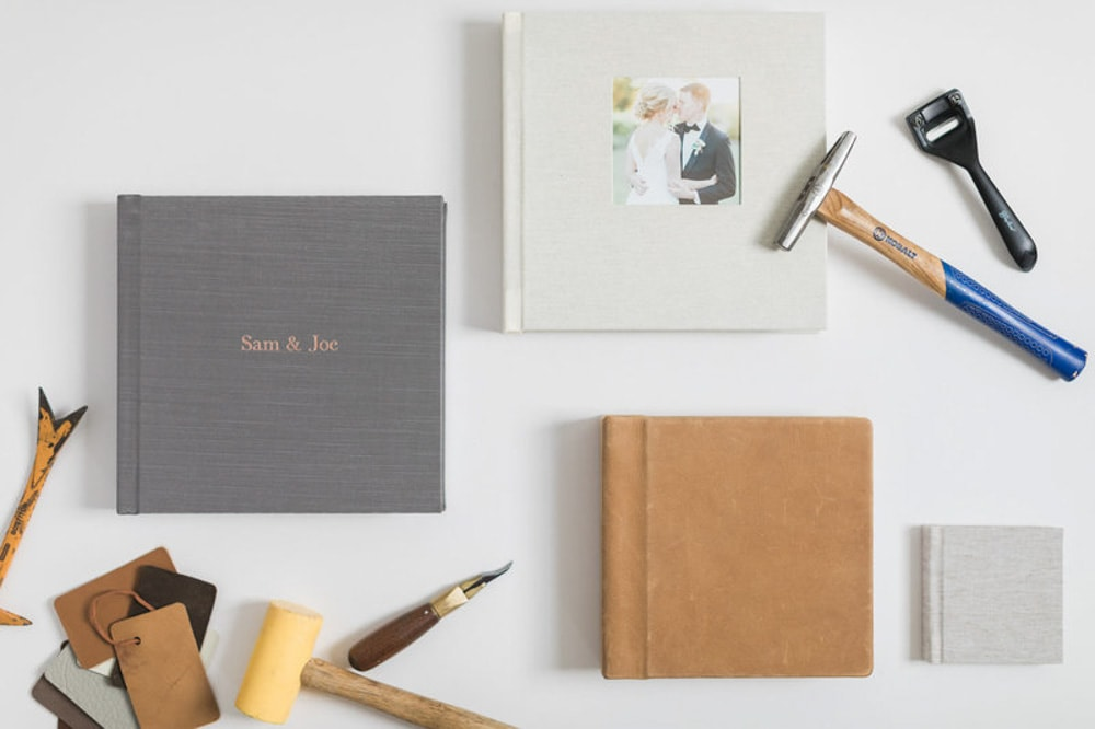 a la carte items, flat lay of album options